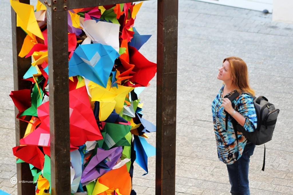 Palomas mensajeras Picasso Escultura Jaume Plensa- Plaza de Felix Saenz -art&museum