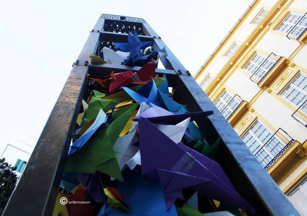 Palomas mensajeras Octubre Picassiano- Plaza de Felix Saenz- Escultura Jaume Plensa-art&museum