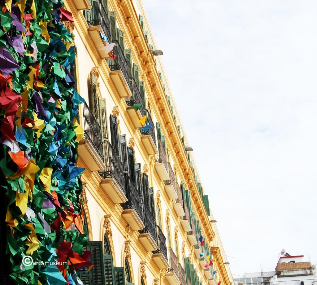 134 aniversario Picasso-palomas mensajeras- fachada Casa Natal-art&museum